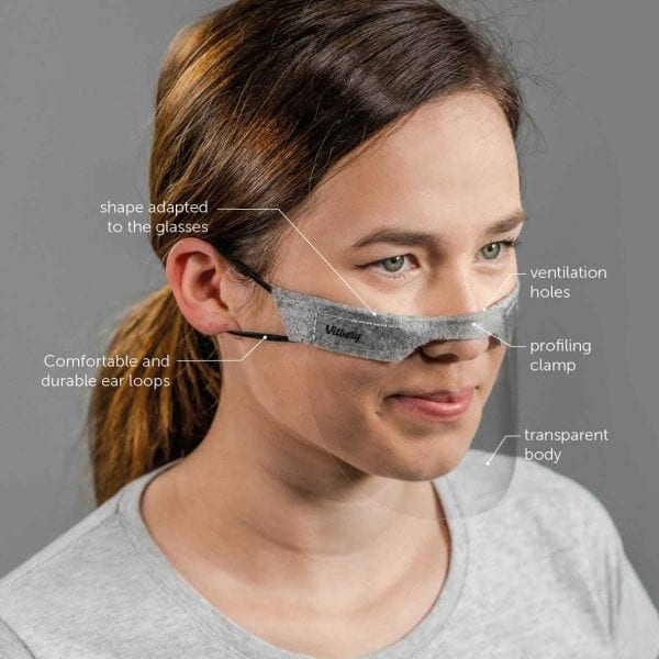 Vitberg Mini Shield Innovative, Breathable Mask. 2 pcs